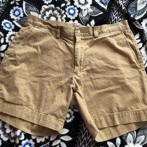 Polo tan shorts